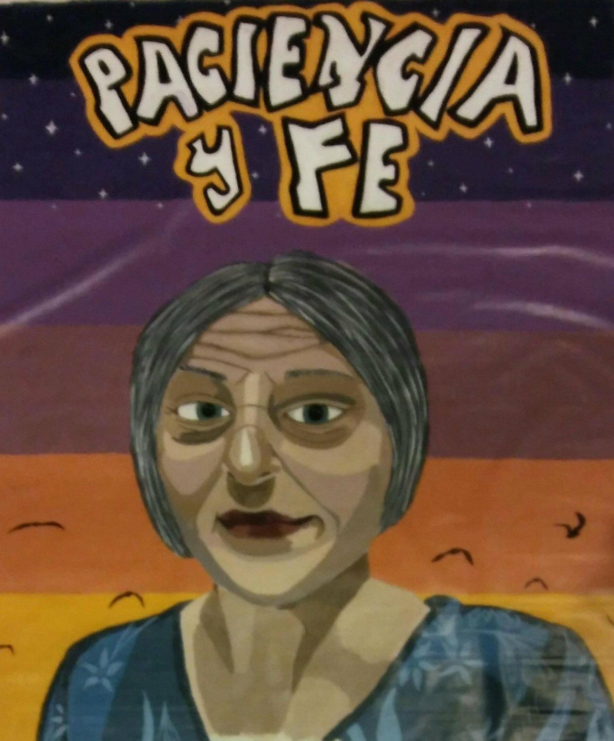 Revealed in Act Two, this mural depicts Abuela Claudia and her personal motto,