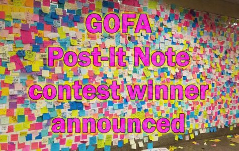 GOFA Post-It Note contest winner announced