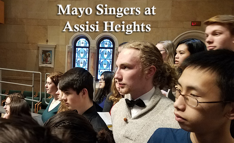Mayo singers create musical beauty at Assisi Heights
