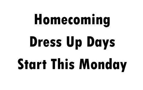 Homecoming Dress Up Days Start Monday