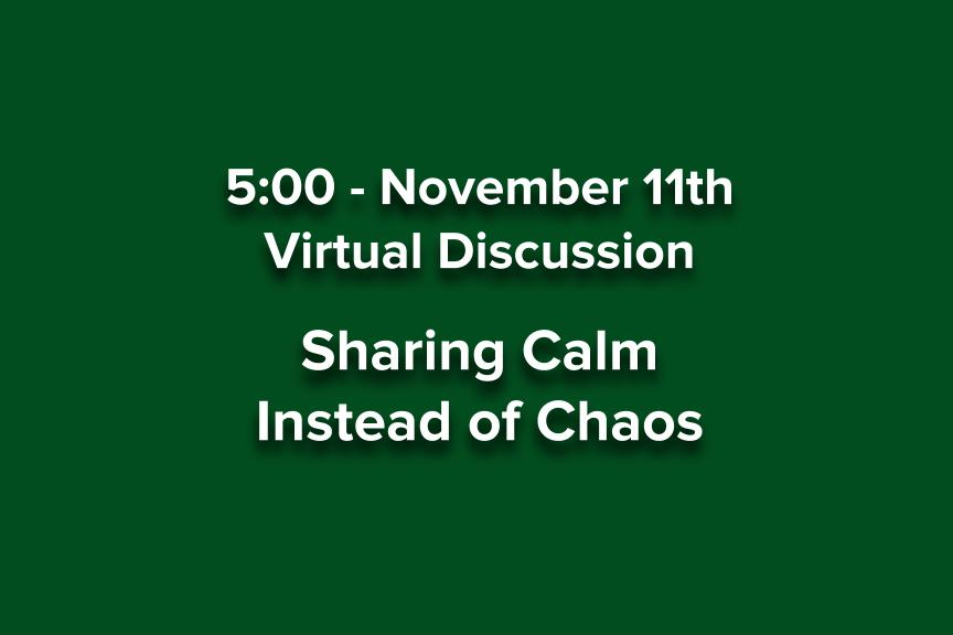 Guidance Department helps us share calm instead of chaos