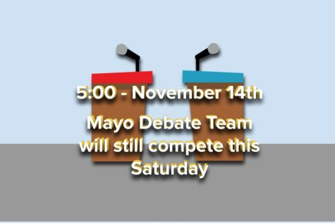 Mayo Debate Team will compete this Saturday