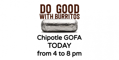 Chipotle GOFA today from 4 to 8 pm