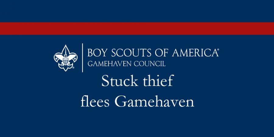 Stuck thief flees Gamehaven
