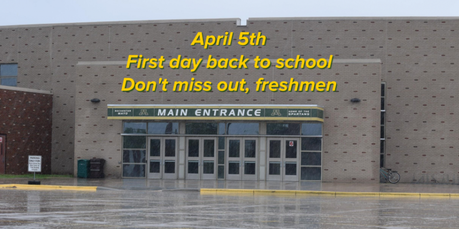 April 5th - First day back to school - Don't miss out, freshmen