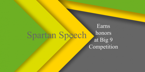 Spartan Speech Team earns honors at Big 9 Competition